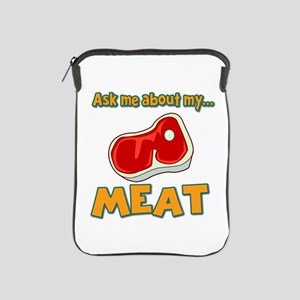 Funny Ask Me About My Meat Steak Butcher Humor iPa