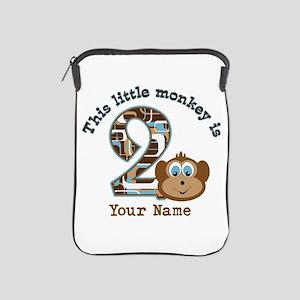 2nd Birthday Monkey Personalized iPad Sleeve