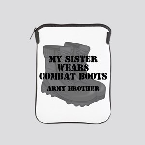 Army Brother Sister Combat Boots iPad Sleeve