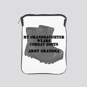 Army Grandma Granddaughter Combat Boots iPad Sleev