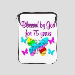 75 YR OLD ANGEL iPad Sleeve