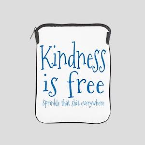 Sprinkle Kindness Blue iPad Sleeve