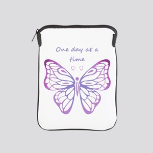 One Day at a Time Quote Butterfly Art iPad Sleeve