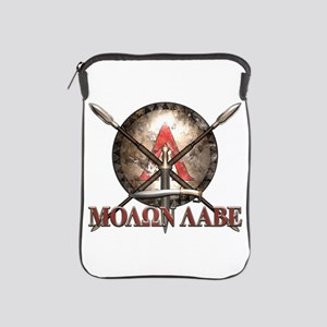 Molon Labe - Spartan Shield and Swords iPad Sleeve