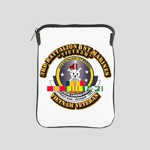 SSI - 3rd Bn - 1st Marines w VN SVC Ribbon iPad Sl
