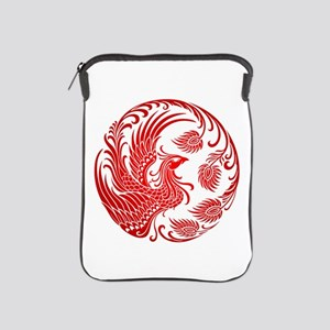 Traditional Red Phoenix Circle Ipad Sleeve
