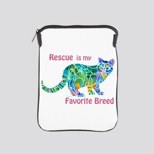 RESCUE is Favorite Breed CATS iPad Sleeve