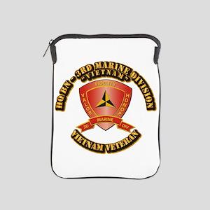 USMC - HQ Bn - 3rd Marine Division VN iPad Sleeve