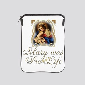 Mary was Pro-Life (vertical) iPad Sleeve
