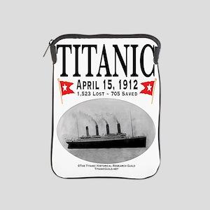 Titanic Ghost Ship (white) iPad Sleeve