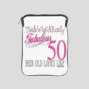 Fabulous 50th Birthday Gifts iPad Sleeve