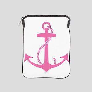 Pink Anchor iPad Sleeve