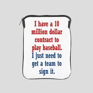 Baseball Contract iPad Sleeve