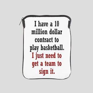 Basketball Contract iPad Sleeve