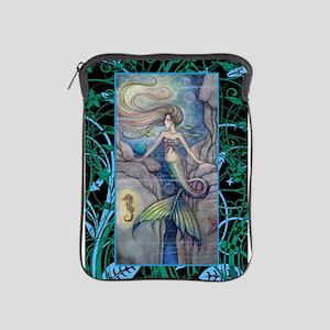 Mermaid and Seahorse Fantasy Art iPad Sleeve