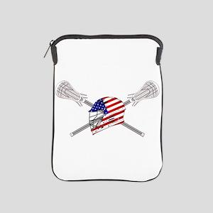American Flag Lacrosse Helmet iPad Sleeve