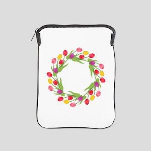 Tulips Wreath iPad Sleeve