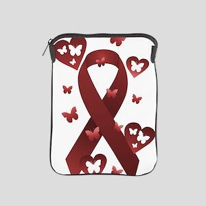 Red Awareness Ribbon iPad Sleeve