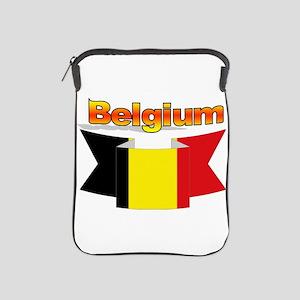 Belgian flag ribbon iPad Sleeve