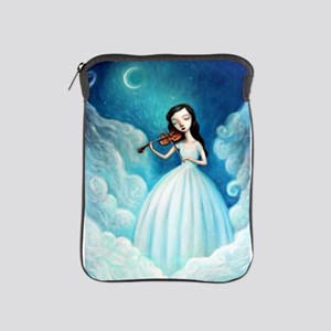 Girl with Moon and Violin iPad Sleeve