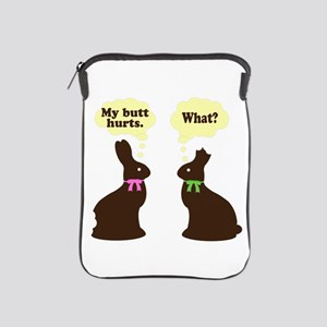 My butt hurts Chocolate bunnies iPad Sleeve