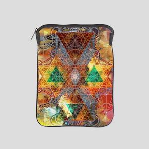 Metatron-Colorscape-Mandala-Poster iPad Sleeve