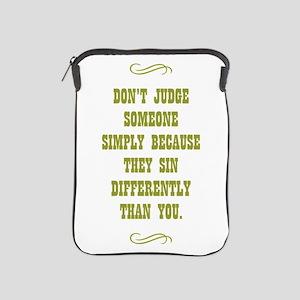 DON'T JUDGE... iPad Sleeve