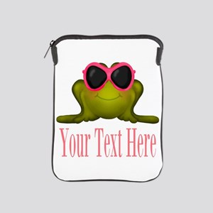 Frog in Pink Sunglasses Custom iPad Sleeve