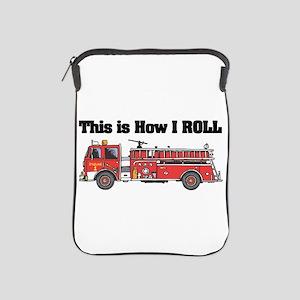 how i roll fire truck funny design iPad Sleeve
