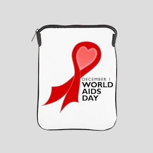 World AIDS Day Red Ribbon iPad Sleeve