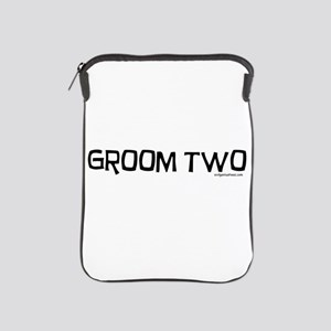 Groom two funny wedding iPad Sleeve
