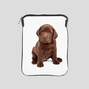 Chocolate Labrador Puppy iPad Sleeve