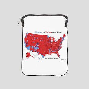 Trump vs Clinton Map iPad Sleeve