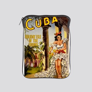 Vintage Cuba Tropics Travel iPad Sleeve