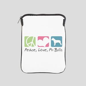 Peace, Love, Pit Bulls iPad Sleeve