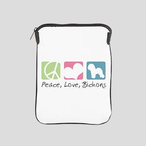 Peace, Love, Bichons iPad Sleeve