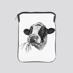 Happy Holstein Friesian Dairy Cow iPad Sleeve