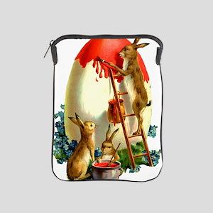 Easter rabbits painting iPad Sleeve