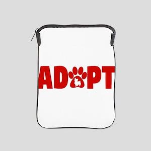 Cute Pets Paw Cat Dog Adopt Red iPad Sleeve
