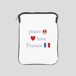 Peace, Love and France iPad Sleeve