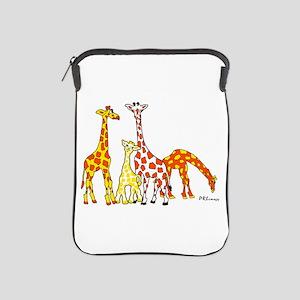 Giraffe Family Portrait In Oranges And Ipad Sleeve