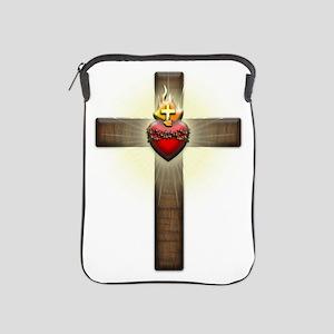 Sacred Heart of Jesus Cross iPad Sleeve