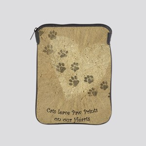 Paw Prints on our Hearts iPad Sleeve
