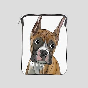 Perky Boxer Dog Portrait iPad Sleeve