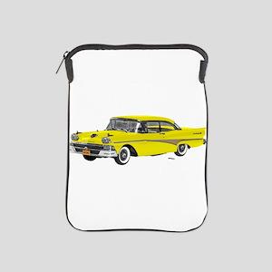 1958 Ford Fairlane 500 Yellow iPad Sleeve