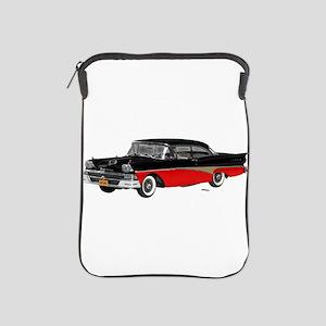 1958 Ford Fairlane 500 Black & Red iPad Sleeve