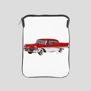 1958 Ford Fairlane 500 Red & White iPad Sleeve