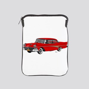 1958 Ford Fairlane 500 Red iPad Sleeve