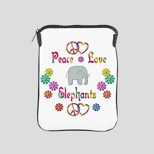 Peace Love Elephants iPad Sleeve