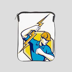 Electrician Construction Worker Retro iPad Sleeve